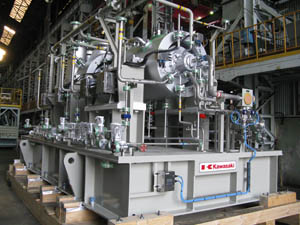 Kawasaki Ships Gas Turbine Driven Natural Gas Compressor