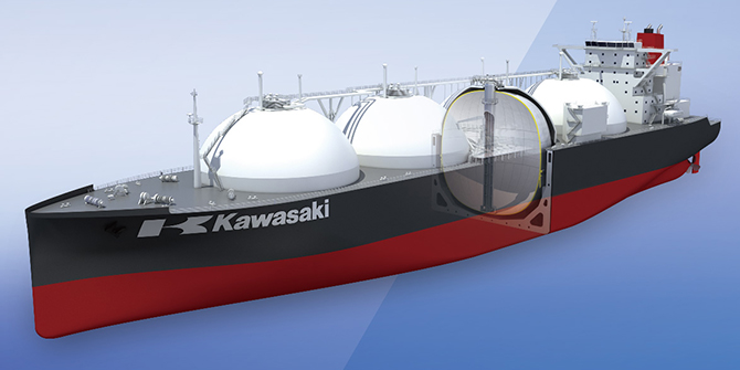 Large LNG Carrier with Newly Developed Tank