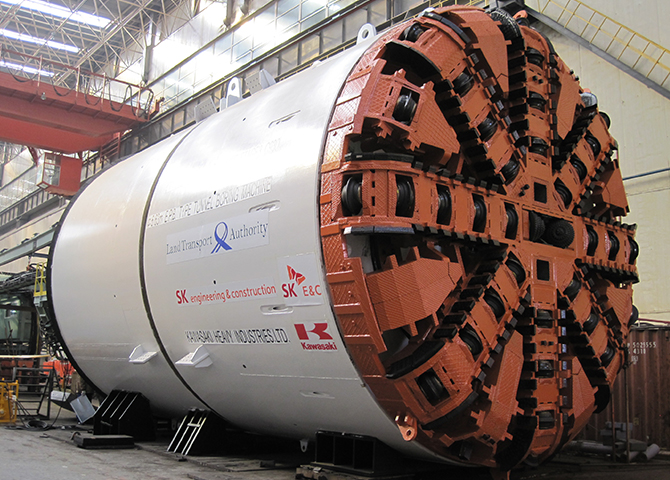 Medium-Diameter Shield Tunnel Boring Machine