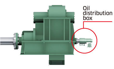 Gear box mounting oil distribution box (Option)